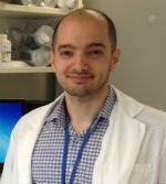 Mark Farrugia in laboratory