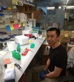 Wallace Liu in laboratory